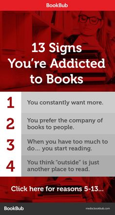 Book humor: 13 signs your book addiction has gone way, way too far!