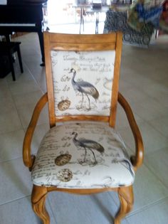 Dining chair in Greenhouse Fabric pattern A3220 Seamist