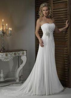 Pleat Chiffon Beach Wedding Dresses at Bling Brides Bouquet - Online Bridal  Store  BlingBridesBouquet Brooch 4759068b37b7