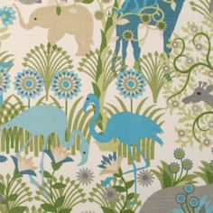 $50 21029-351 Animal/Insect Blue Haze by Duralee Fabric