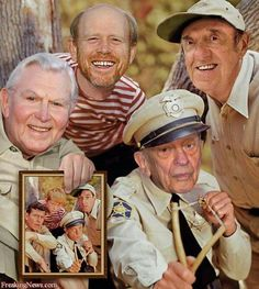 Andy Griffith Show: Andy Griffith, Ron Howard, Jim Nabors, Don Knotts Jim Nabors, Don Knotts, The Andy Griffith Show, Actrices Hollywood, Old Shows, Vintage Tv, Vintage Photos, Vintage Stuff, We Are The World