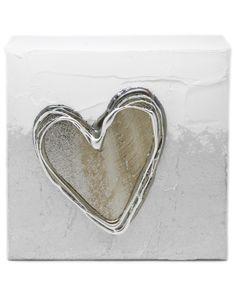 White Artbloxx 03 Silver Wall Art, Small Canvas, Art Uk, Heart Ring, Contemporary Art, Jewelry, Jewels, Contemporary Artwork, Schmuck