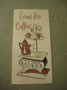 Vintage Invitations Come for Coffee with Envelopes by BettyAndDot, $6.95
