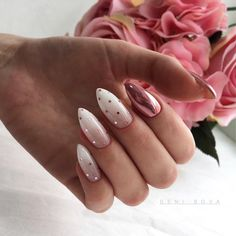 Polka Dot Nails If you love polka dots you're going to love these gorgeous nail designs we've gathered up. Take a look and get inspired by some of the best polka dot nails. Cute Acrylic Nails, Cute Nails, Pretty Nails, Acrylic Art, Hair And Nails, My Nails, Nail Art Designs, Gel Polish Designs, Nagel Blog