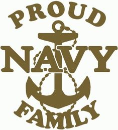 Proud Navy Anchor Family