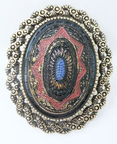 Vintage jewelry brooch pendant by Sarah by DevineCollectible, $50.00