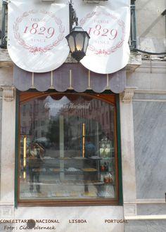 Tradicional confeitaria em Lisboa.  Foto : Cida Werneck