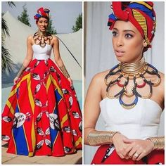 African fashion which is stylish. South African Dresses, Wedding Dresses South Africa, South African Fashion, African Wedding Dress, African Fashion Designers, African Print Dresses, African Print Fashion, Africa Fashion, African Attire
