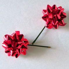 Christmas Bow Bobby Pins