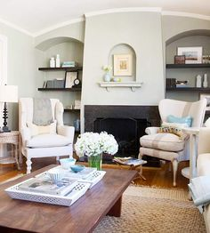 mismatched wing-backed chairs!