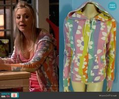 Penny's floral hoodie on The Big Bang Theory.  Outfit Details: https://wornontv.net/85591/ #TheBigBangTheory