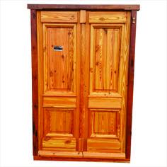 Puerta pinotea colonial de madera macizo estilo antiguo - Puertas de dos hojas ...