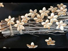 DIY flowers from pistachio shells - crafts with natural materials - DIY decoration - upcycling Pista Shell Crafts, Fun Crafts, Diy And Crafts, Pistachio Shells, House Ornaments, Diy Christmas Tree, Shell Art, Flower Making, Diy Flowers