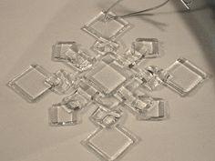 fused glass snowflake