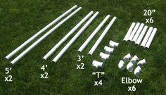 measurements for PVC soccer goal