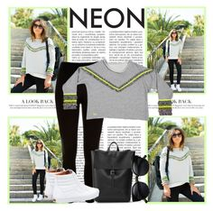 """""""Neon Colors"""" by inyene105 ❤ liked on Polyvore featuring River Island and Vans"""
