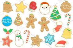 Christmas Cookies Clipart. Objects. $3.00