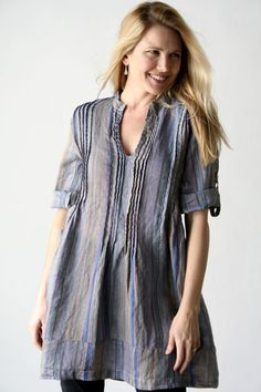 Product Image: Regina Tunic Blue Stripes in Women's Clothing: Cp Shades Clothing 2012