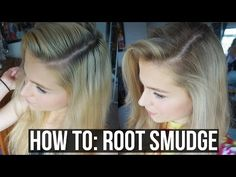 DIY Balayage, Sombre, Root Smudge Blonde hair with Dark Roots | Ellesse Vlogs - YouTube