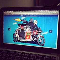 Creating my website! #Illustration #Philippines #Tricycle #Progress