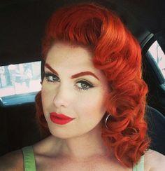 My favorite pin up model, Doris MayDay, with some killer hair!