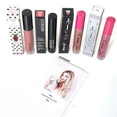 Liquid lippie haul from @beautybaycom  @shopvioletvoss Wasted @artdeco_cosmetics Diva Pink @colouredraine in Mars and Single #belleblushh #makeup #makeuplover #makeupjunkie #makeupstash #makeupfix #fakeupfix #hudabeauty #blogger #beautyblogger #bbloggers #instagood #instadaily #love #violetvoss #artdeco #colouredraine #lipstick #liquidlipstick #lipstickjunkie #lippiestash