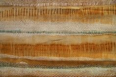 My Work: SHORELINE :: Vintage napkin, Indigo shibori, rusted with pins and stiched Shibori, Textile Art, Rust, Indigo, Im Not Perfect, Foundation, Textiles, Detail, Gallery