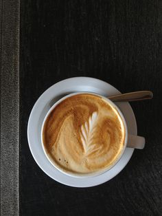 A perfect latte. #coffee #cafe