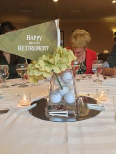 The extraordinary Retirement Party Centerpiece. Perfect For My Golfer Intended For Retirement Party Table Decorations Ideas digital photography below, … Teacher Retirement Parties, Retirement Decorations, Retirement Celebration, Retirement Party Decorations, Retirement Party Invitations, Happy Retirement, Retirement Ideas, Retirement Cakes, Retirement Quotes