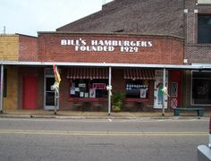Bills Hamburgers in Amory Mississippi ..  Home! WHAT I WOULD DO FOR A BILLS HAMBURGER RIGHT NOW!!