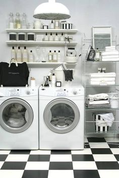 The Laundress laundry room - laundry never looked so chic. #interiordesign #spaces #homedesign