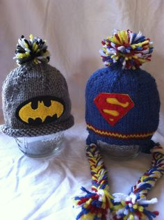 Baby Super Hero hats. $20.00 each, via Etsy.