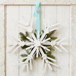 Wooden Snowflake Wreath