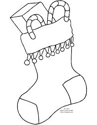 Christmas Stocking Coloring Pages Kids Coloring Pages