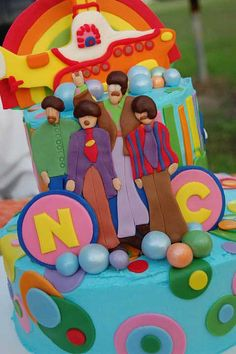 I think about this cake every time I hear a Beatles song! All You Need Is Love, Love, Love!