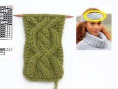 Alanna Headband / DROPS Extra 0-1320 - Bandeau tricoté dans le sens de la longueur avec torsades, en DROPS Air. - Free pattern by DROPS Design