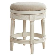 "Chloe 24"" Cream Fabric Backless Counter Stool ($200) ❤ liked on Polyvore featuring home, furniture, stools, barstools, backless barstools, upholstered stool, fabric counter height stools, off white bar stools and beige bar stools"