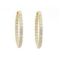 Earrings :: Diamond Hoops :: Diamond Hoop Earrings in 18K Yellow Gold (Style ID: 10538)