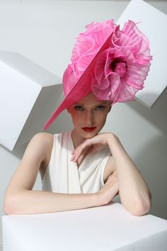 Philip Treacy - I like the texture of the fabric flowers, which reminds me of the arashi technique