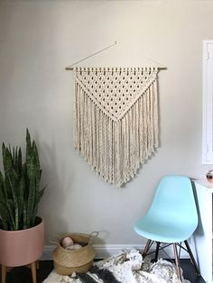 Macrame Wall Hanging Pattern Pattern Name - XL Triangle Buy 4 DIY Macrame Patterns and get one $4.99 pattern free using Coupon Code: Macrame This is a digital download pattern/DIY for a Macrame Wall Hanging that I designed. It list the materials needed as well as a written