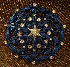Quilled Mandala with Swarovski flat back crystals:  All Things Paper