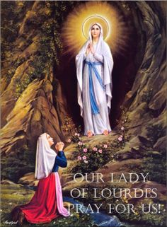 Our Lady of Lourdes appears to St. Bernadette - The first apparition was on Feb. 11, 1858.