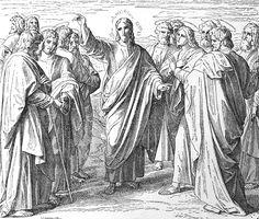 Bilder der Bibel - Aussendung der zwölf Apostel - Julius Schnorr von Carolsfeld
