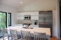 White thermofoil, kitchen by Adagio cabinets 847-480-6300