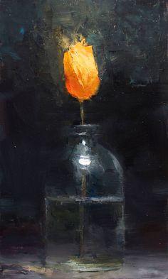 Torch - 10x6, oil on panel, Scott Conary