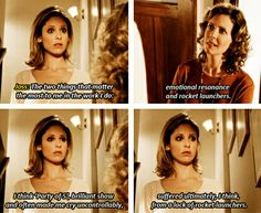Joss Whedon commentary on Buffy the Vampire Slayer - love that man! :D [gifset]