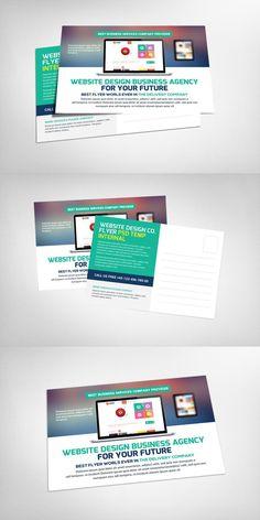 Marketing business postcard template business postcards template website design business postcard psd wajeb Gallery