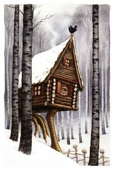 Baba Yaga -- the most terrifying image from my childhood