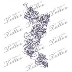 Marketplace Tattoo Roses #12274 | CreateMyTattoo.com