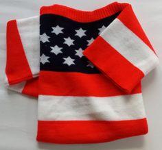 1970's vintage deadstock trui amerikaanse vlag kindermaten 7/ 8/ 9/ 10/ 12/ 14 jaar kleine xs nieuwe mint independance day sweater jumper door Smufje op Etsy
